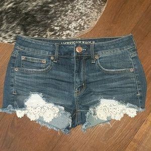 AE Shortie High Waist Denim Shorts